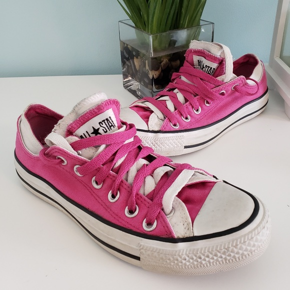 Converse all star pink double tongue lace sneaker